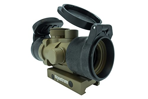Monstrum Tactical S330P Ultra-Compact 3x Prism Scope (Flat Dark Earth with Flip-Up Lens (Red Dot Flat)