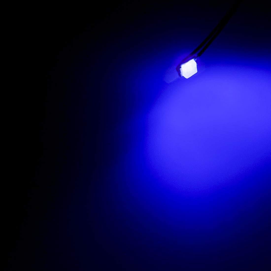 sourcing map 3pcs Prewired 0402 Blue SMD LED Light Emitting Diode DC 2.8-3V Micro Soldered Mini LED Light