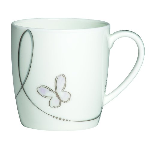 Waterford Bone China Mug - Waterford Lismore Butterfly Mug, 3-1/4-Inch Tall, 12-Ounce