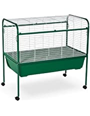 Prevue Pet Products Small Animal Cage with Stand, 40-Inch by 23-1/2-Inch by 37-Inch, Green/White