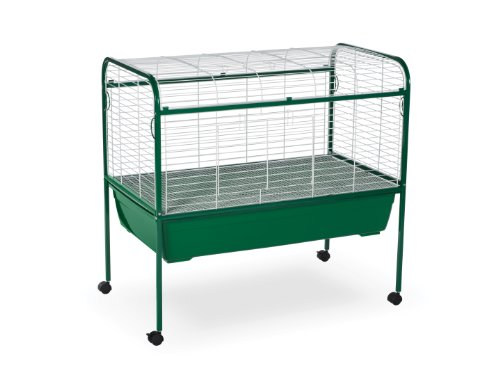- Prevue Pet Products Small Animal Cage with Stand 520 Green and White, 40-Inch by 23-1/2-Inch by 37-Inch
