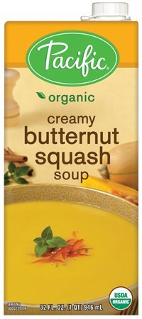 Pacific Foods Organic Creamy Butternut Squash Soup, 32-Ounce Cartons, 12-Pack