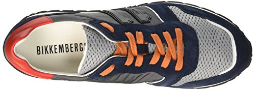 Nylon suede top Bikkembergs 650 shoe L Multicolore blue Low Mant Uomo grey orange M Scarpe 4xqUqZgn