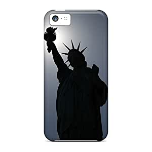 New Style EOVE Hard Case Cover For Iphone 5c- Statue Of Liberty Silhouette