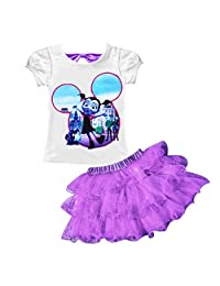 AOVCLKID Vampirina Little Girls' 2Pcs Suit Cartoon Shirt and Skirt Set