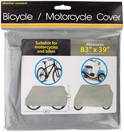 Kole Imports Weather Resistant Bicycle and Motorcycle Cover