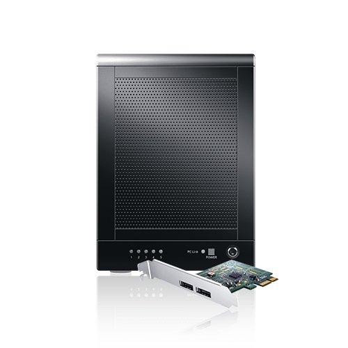 Sans Digital TowerRAID 5-Bay USB 3.0/eSATA Hardware RAID 5 Tower with 6G PCIe 2.0 Host Bus Adapter TR5UT-BP (Black)