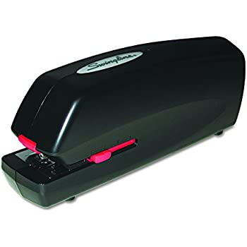 Swingline 48200 Portable Electric Stapler, Full Strip, 20-Sheet Capacity, Black