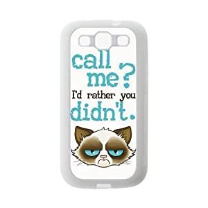 Cute Grumpy Cat Cartoon Rubber Cell Cover Case for SamSung Galaxy S3