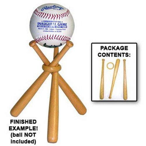 DISPLAY HOLDER BASEBALL STAND - GOLF BALL - TENNIS BALL etc. Makes A Great Christmas Stocking Stuffer, Holiday Favor, Birthday or Father's Day ()
