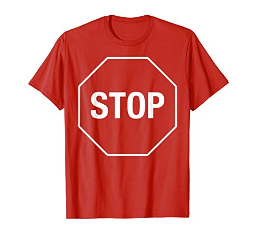 Halloween Costume Stop Sign Funny Simple Lazy ()