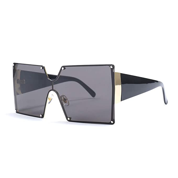 4b88acb74360 MINCL/Oversized Shield Sunglasses Woman 2019 New Designer Brand Luxury  Shades UV400 Vintage Flat Top