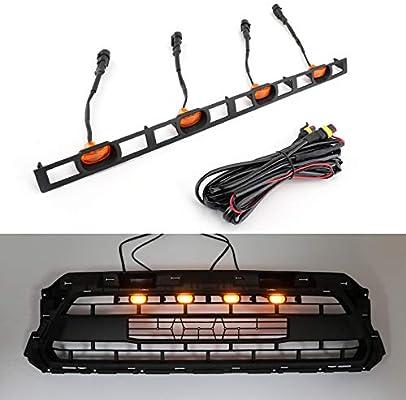 Artudatech luces LED para parrilla delantera, 4 unidades, luces ...