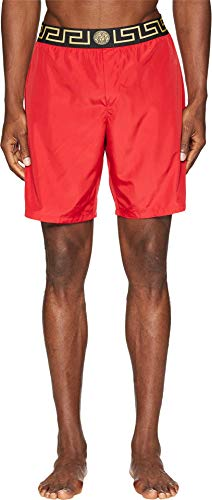 Used, Versace  Men's Beach Long Shorts Red 4 for sale  Delivered anywhere in USA