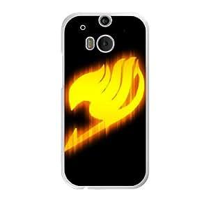 Fairy Tail logo N6H2BX9Q Caso funda HTC One M8 Caso funda del teléfono celular blanco