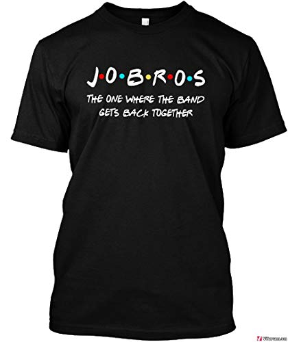 Jobros Jonas Brothers The one Where The Band gets Back Together Shirt Black