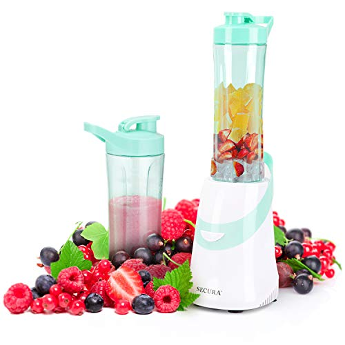 Secura 300W Personal Blender for Shakes and Smoothies | Stainless