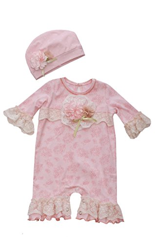 Shabby Chic Clothing - Bonnie Jean Newborn Girl Vintage Floral Shabby Chic Set (0m-9m) (3-6 Months)