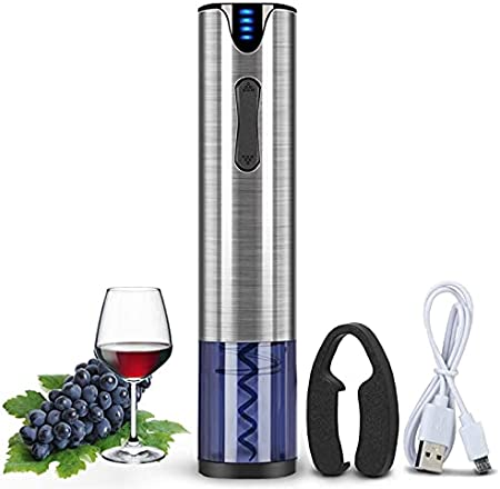 ELXSZJ XTZJ Abridor de vinos eléctricos con Cortador de lámina One-Touch, descorche 30 Botellas en una Sola Carga, sacacorchos automáticos y removedor de lámina, batería Recargable