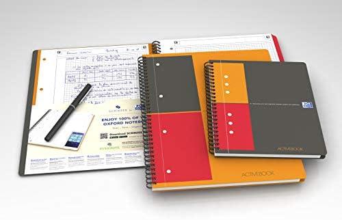 OXFORD 100102880 Activebook International DIN A5 kariert mit versetzbarem Register und Dokumententasche