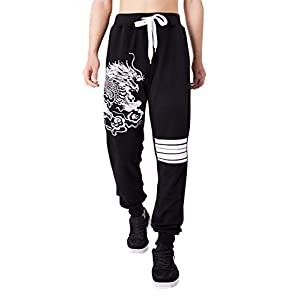 jeansian Men Sport Drawstring Trousers Baggy Sweatpants Joggers Long Active Pants LSS227