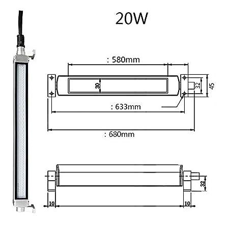 Industrial//Machine LED Tube Light,16w 24V IP68 Explosion Proof LED Light//CNC Machine Interner Lighting Tube Long 850mm 16W