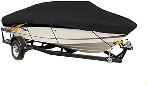 New 600D Oxford Cloth Boat Speedboat Cover Fit 20-22ft Boat Weather Proof Gray