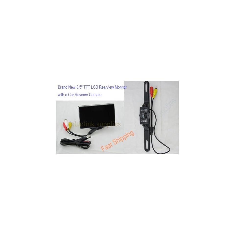 3.5 TFT LCD Car Monitor Color Camera Rearview DVD VCR + Night Vision Camera