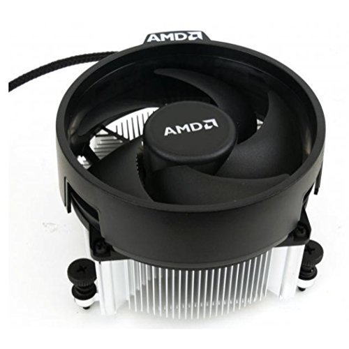 AMD Wraith Spire Socket AM4 4-Pin Connector CPU Cooler With Copper Core Base & Aluminum Heatsink & 3.81-Inch ()