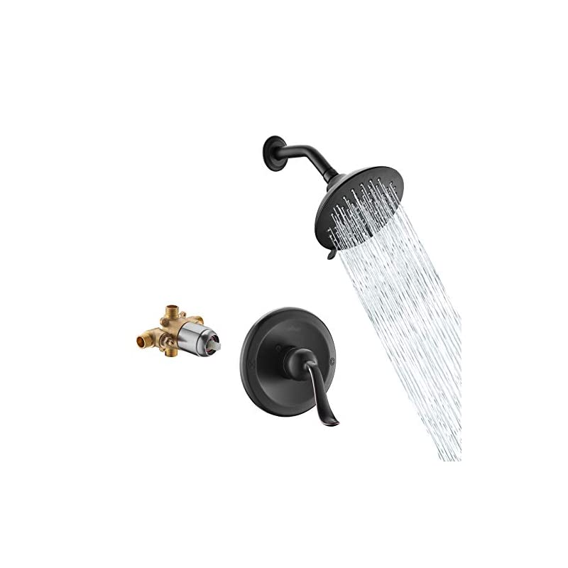 APPASO Shower Faucet Set (Valve Included) Oil Rubbed Bronze, Shower system with 5-Function Spray Head, Single Handle…