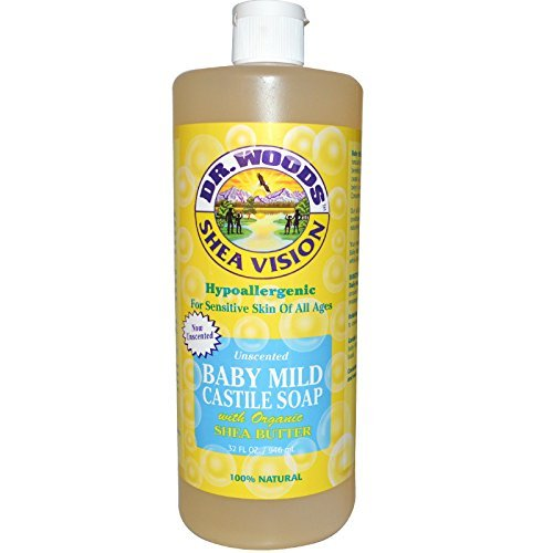 Dr. Woods Shea Vision Pure Castile Soap Baby Mild Unscented -- 32 fl oz (Woods Castile Baby Mild Soap Dr)