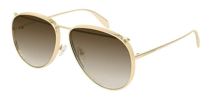 1dad726241dc Amazon.com: Alexander McQueen AM-0170-S Unisex Gradient Sunglasses ...