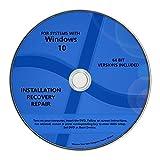 Windows 10 Pro & Home Install Reinstall Restore Upgrade Repair Recovery 64 bit x64 WNYPC Backup Utility DVD