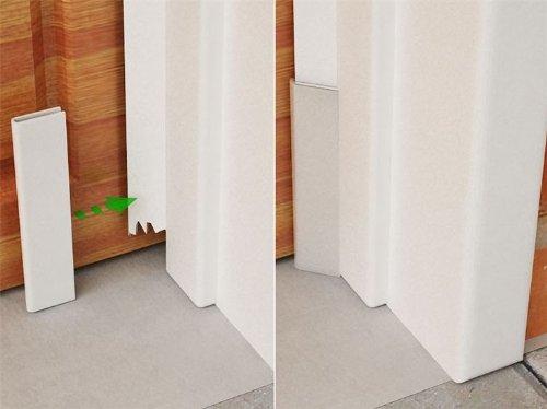 Garage door rodent guard the rickford company llc for Garage door stop molding weather seal