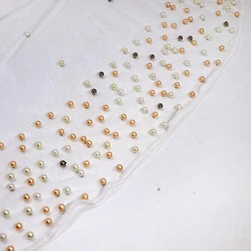 LVOW Da Donna Gatsby Anni 20 Scialle Con Perla di Perline Cape da Sera di Maglia Bolero Flapper Coprire Up