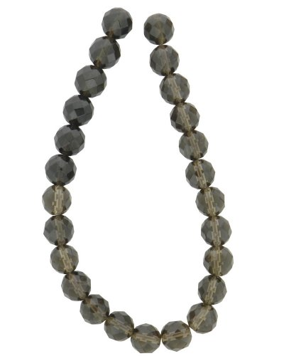 Tennessee Crafts 1390 Semi Precious Smoky Quartz Faceted Beads,Round 8mm