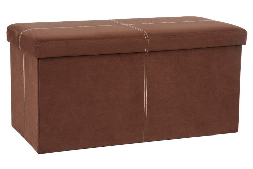 Amazon Com Fhe Group Microsuede Folding Storage Ottoman