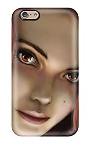High-end Case Cover Protector For Iphone 6(fantasy Girl Redhead Closeup Red Hair Cartoon Paint Book Novels Anime Other)