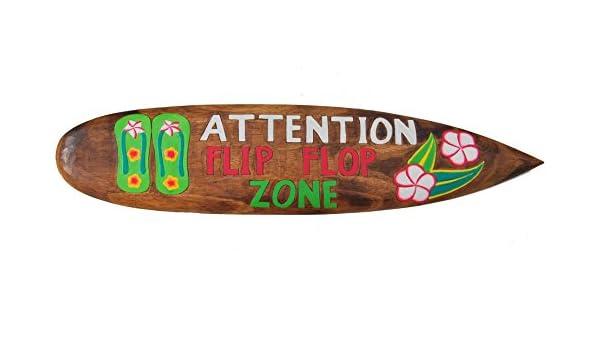Tabla de surf 100 cm la decoración de la Flip Flop de zona de tabla de surf de estilo de hawaiana con diseño de Tiki Beach: Amazon.es: Hogar