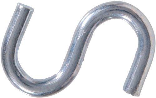 The Hillman Group 320231 .091 x 7/8 Zinc Plated S-Hook 100-Pack (2)