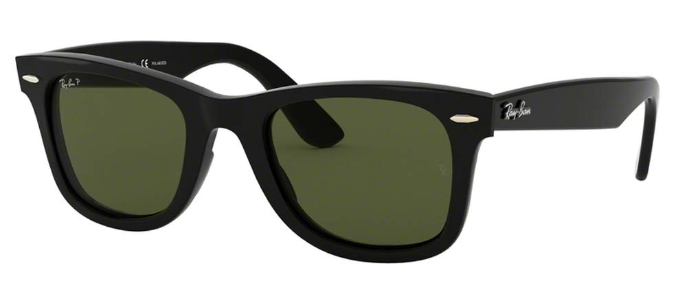 Ray-Ban RB4340 WAYFARER 601/58 50M Black/Green Polarized Sunglasses For Men For Women by Ray-Ban