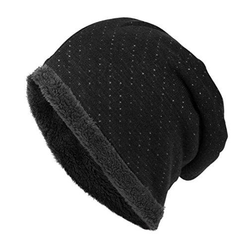Tuscom Unisex Outdoors Winter Warm Knit  - Black Velvet Hat Shopping Results