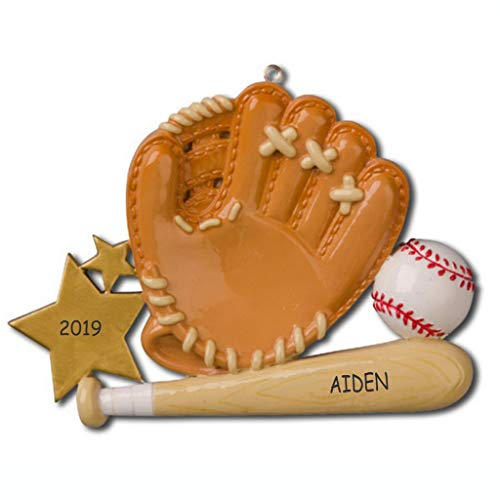 DIBSIES Personalization Station Personalized Baseball Sports Christmas Ornament