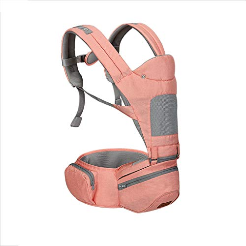 ZUOANCHEN Baby Waist Stool Single Stool Baby Seat Stool Summer Breathable Children's Portable Stool with Multi-Function Cross Hug Front Hug (Color: 3 Kinds) (Color : Pink) by ZUOANCHEN Baby carrier (Image #1)