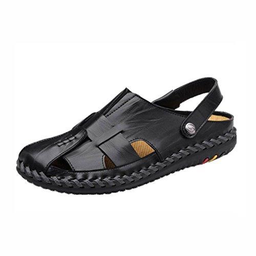 Sandali Outdoor uomo casual 41 da uomo in Sport Beach scarpe cinturino da estate Colore da regolabile scarpe pelle spiaggia Dimensione UN traspirante con passeggio da Beach UN p5vw0