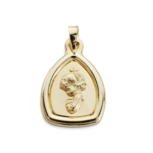 relief vierge 18kt médaille d'or