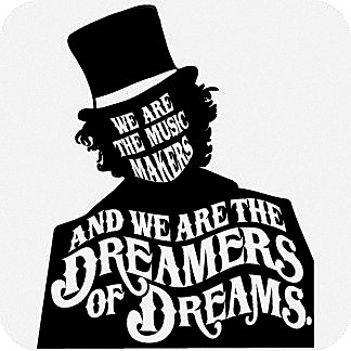 Willy Wonka We Are The Music Makers Quote Decal Vinyl Sticker|Cars Trucks  Vans Walls Laptop| BLACK |5.5 x 4.5 in|CCI571