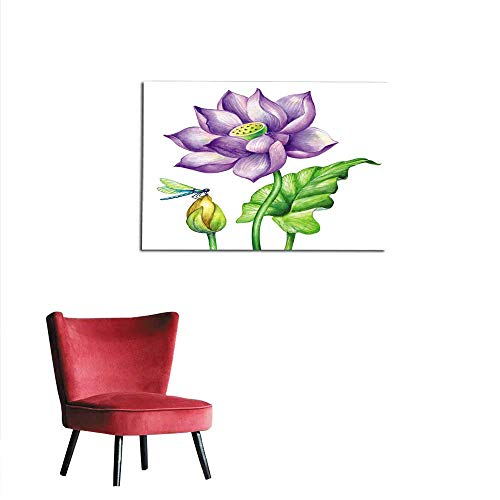 Wallpaper watercolor botanical illustration pink lotos flowers oriental garden nature water lillies green leaf chinoiserie lotus tropical floral clip art isolated on white background mural 28