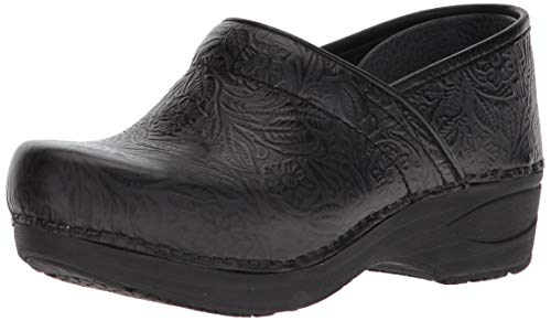 Dansko Women's XP 2.0 Clog, Black Floral Tooled, 39 Medium EU (8.5-9 US)