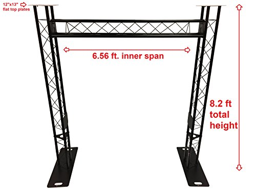 BLACK TRUSS ARCH KIT 8.20FT Height Mobile Portable DJ Lighting System Metal Arch